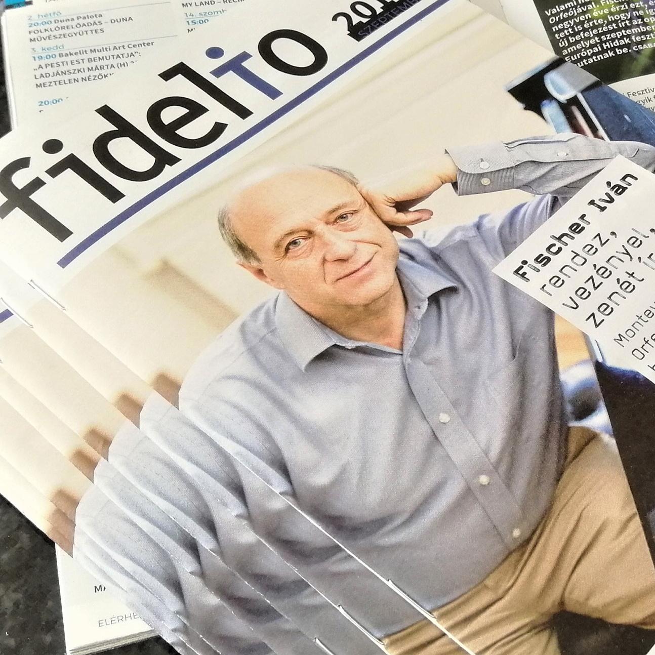 Fischer Ivánnal a címlapon kezdi az évadot a Fidelio